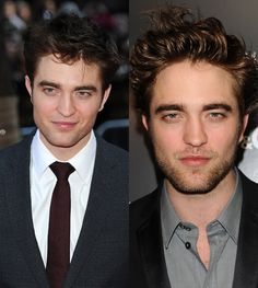 Robert Pattinson -- better bare, or with facial hair?