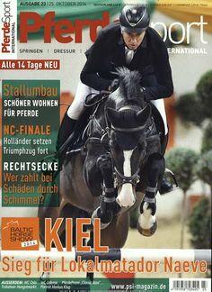 Kiel - Sieg für Lokalmatador Naeve. Gefunden in: Pferdesport International, Nr. 23/2014