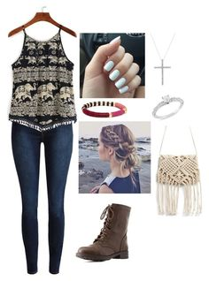 """Untitled #387"" by rikey-byrnes on Polyvore featuring Charlotte Russe and Ice"