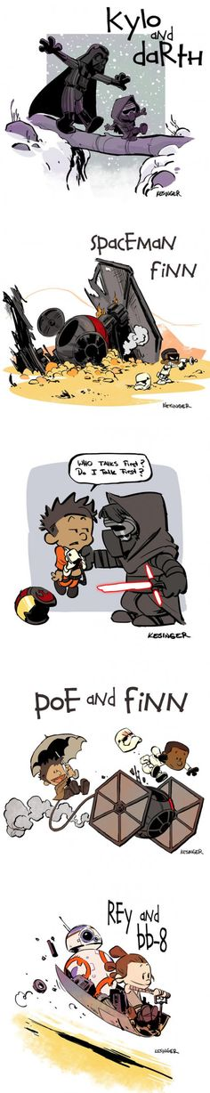 """Star Wars"" Reimagined As ""Calvin And Hobbes"" Characters (By Brian Kesinger)"