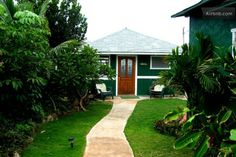 Cute beachfront house in Waimanalo. Hot tub, sandy beach access, oh yeah! More modest kitchen, but it could work.