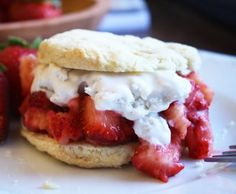 Lemon Strawberry Shortcakes ( Make dairy free with using So-Delicious Dairy Free Coconut ice cream)
