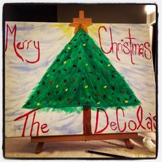 Christmas Canvas DIY