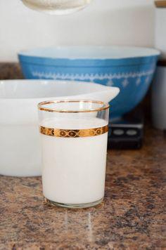 homemade almond milk – In Jennie's Kitchen Almond Milk Recipes, Homemade Almond Milk, Pinterest Board, Glass Of Milk, Panna Cotta, Dinner, Drinks, Ethnic Recipes, Tableware