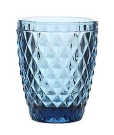 Vintage Embossed Wine Glass Juice Glass Water Glass Cup Blue