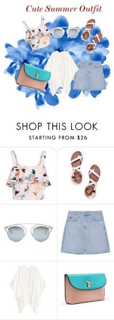 """Cute Summer Outfit"" by jadaramseyy on Polyvore featuring New Look, Tory Burch, Christian Dior and AG Adriano Goldschmied"