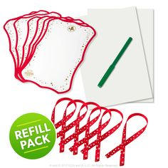 Scout Elf Express Delivers Letters to Santa: Santa's Special Paper™ Refill Pack Package Front Contents Spread Out