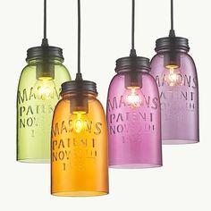 Modern Bottle Color Glass Pendant Lighting Hanging Ceiling Fixtures Lamp Light in Home, Furniture & DIY, Lighting, Ceiling Lights & Chandeliers | eBay