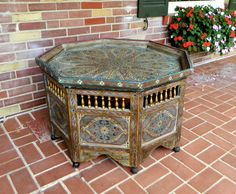 Vintage+Moroccan+Hand+Painted+Octagonal+Table+by+JOIHOME+on+Etsy,+$495.00