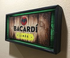 BACARDI Liquor Light up Sign by PRIMOBARS on Etsy