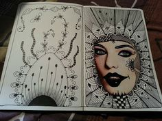 Kai-Zen Doodles: My 11th and 12th Tangles: OM-BRELLA and FASUL & More Doodle Journal Pages