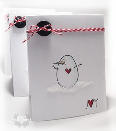 Stamps by Paper Smooches (I love the clean and simple look to this card and the red accents)