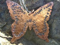 Butterfly Wishes Necklace by KottageKreations on Etsy, $25.00