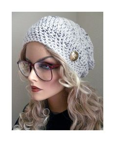 Bohemian Chic Slouchy Beanie Hat Bohemian Chic Hand Crocheted  Hat  women teens  fall autumn winter fashion accessories on Etsy, $28.00