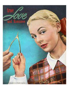 True Love and Romance Vintage Magazine - November 1947 - Kodachrome artdotcom