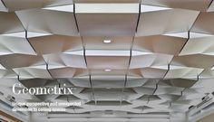 USG Ceiling - Geometrix 3D metal ceiling tiles