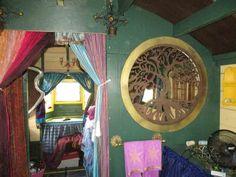 Daphne's Caravans: Magical Gypsy Caravans, guest spaces or retreats Home Made Camper Trailer, Camping Trailer Diy, Rv Trailer, Homemade Camper, Diy Camper, Camper Ideas, Gypsy Caravan, Gypsy Wagon, Tiny Cabins