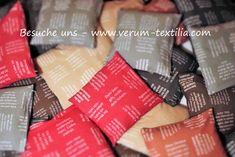 Heimtextilien aus BIO-Baumwolle mit eingewebten Zitaten für Geist, Seele und Leib. MADE IN AUSTRIA Strand, Hemp, Bible Verses, Sun, Weaving, Cotton
