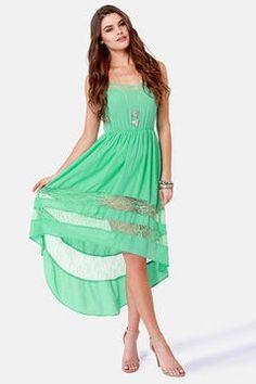 Cute gteen summer dress