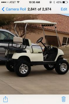Golf cart with lift kit, installed by my father-in -law❤️