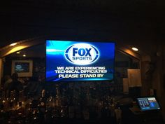Technical difficulties during the World Series: Stand by and wait