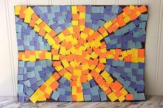 How to make roman mosaics for kids roman art, roman mosaics, teaching art, Ciel Art, Mosaics For Kids, Art For Kids, Crafts For Kids, Sun Crafts, Space Crafts, Paper Mosaic, Mosaic Artwork, Mosaic Mirrors