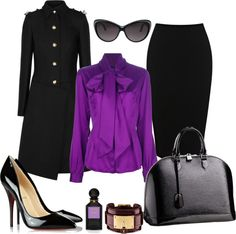 """""""Black and Purple"""" by izabellaml ❤ liked on Polyvore"""