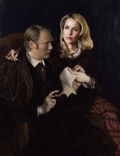 "artsortof: ""Bedelia and Hannibal Modern Renaissance Portrait (2015) Anon requested this yesterday. Hope you like it, Anon. As always: Please do not remove the caption or the source. I would really appreciate that. Thank you guys! Reblog it to the end..."