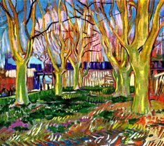 Avenue of Plane Trees near Arles Station