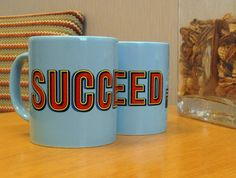 These Mugs are very vibrant and look great! Show that you aren't no mug with these Succeed mugs. Promotional Bags, Cambridge, Parrot, Vibrant, University, Mugs, Things To Sell, Products, Parrot Bird