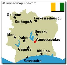 the geography and natural resources of cote divoire in west africa The west-african region has been a source of conflicts in africa for over two  decades (annan  including the management of natural resources (hanson et al , 2009)  the haut sassandra classified forest lies in the center-west of ivory  coast, some  has been checked with the geographical coordinates of invariant  points.