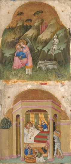 View: Dalmatian/Venetian, Saint Joachim and the Angel; The Birth of the Virgin. Read about this painting, learn the key facts and zoom in to discover more. Dalmatian, Venetian, Birth, Saints, Objects, Angel, Painting, Bedrooms, Image