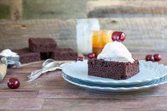 Dark Chocolate Cake Brownies - Against All Grain