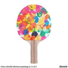 Shop Cute colorful abstract painting ping pong paddle created by ForArt. Ping Pong Paddles, Home Gifts, Create Your Own, Custom Design, Diy, Painting, Colorful, Abstract, Cute