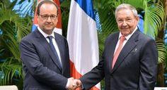 Cubanos en Francia apoyan visita de Raúl Castro