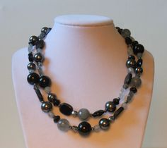 Shades of Gray Necklace : )