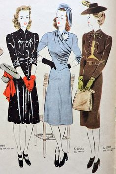 just another wardrobe experience: Inspirations From The Past: Autumn 1941