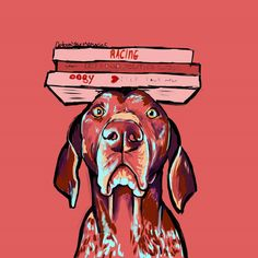 German shorthaired pointer por CartoonYourMemories en Etsy