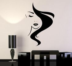Beauty Hair Vinyl Wall Decal Salon Studio Girl Hairdresser Stickers Unique Gift (825ig)