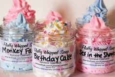 Whipped vegan soaps to make you smell like a birthday cake.