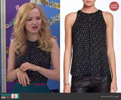 Liv's dotted top on Liv and Maddie.  Outfit Details: http://wornontv.net/48077/ #LivandMaddie