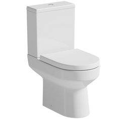 Oakley Close Coupled Toilet With Soft Close Seat | VictoriaPlum.com