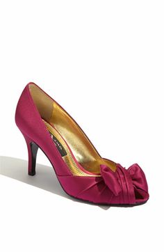 Nina 'Forbes' Peep Toe Pump available at #Nordstrom-  comes in NAVY!