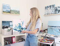 Jenni Tuulia jakoivat julkaisun Instagramissa: Hope you all have a good weekend 💙 What are your plans? I might paint a little (shocking, I know). • Seuraa heidän tilejään, niin näet 316 julkaisua. My Art Studio, Inside Me, Creative, Instagram