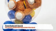 Stuffed teddy bear in a balloon #balloon #balloontwisting #balloonanimals #balloonart #balloonstuffing