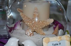Centerpiece-Beach wedding ideas