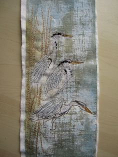textile artist work in progress - Google Search Blue Heron, The 5th Of November, Textile Artists, Artist At Work, Textiles, Google Search, Blog, Blogging, Fabrics