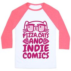 Pizza, cats and indie comics, go hand in hand! Live out your alternative and nerdy lifestyle and show off how much you love pizza, cats and comics with this nerdy and funny, cats and comics t shirt!