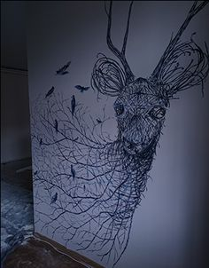 """Check out new work on my @Behance portfolio: """"Deer on the wall"""" http://be.net/gallery/45756417/Deer-on-the-wall"""