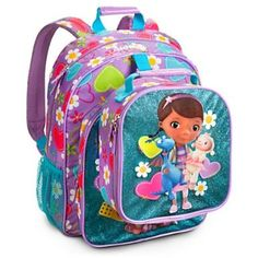 Doc McStuffins Backpack and Lunch Bag Back To School Backpacks, Lunch Tote,  Lunch Bags 4f85fa6f26f